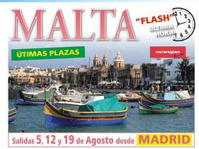 ULTIMAS PLAZAS MALTA!